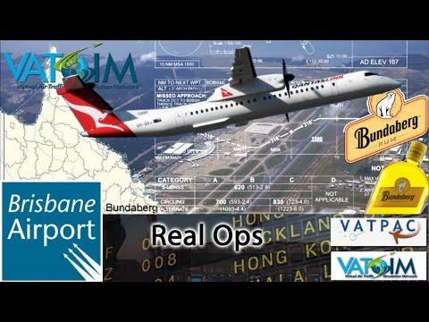FSX Majestic Q400 on Vatsim Vatpac Brisbane RealOps to Bundy