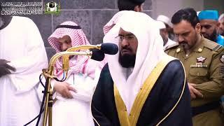 الشيخ السديس يجهش بالبكاء ويبكي المصلين بالحرم -