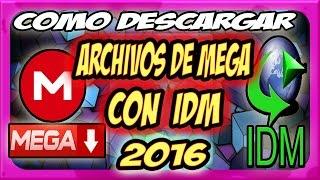 descargar archivos de mega con idm