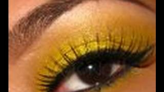 Bright Yellow Glitter party makeup. (contest entry) Thumbnail