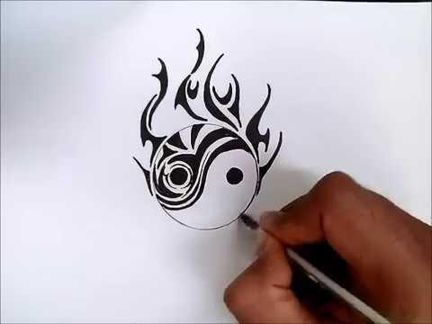 Como Desenhar O Simbolo Yin Yang Tipo Tribal Simples E Rapido