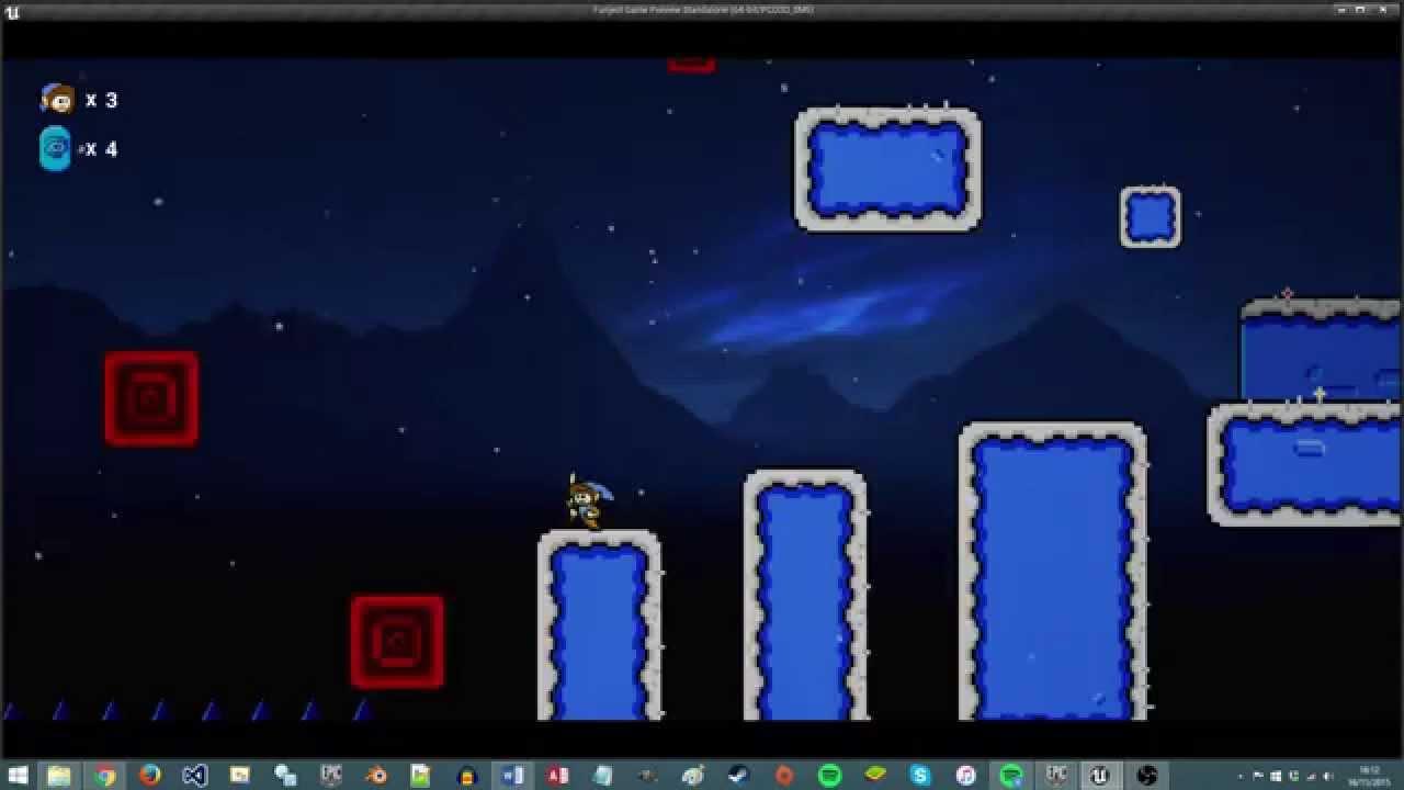 Unreal Engine Game: 2D platformer (Demo)