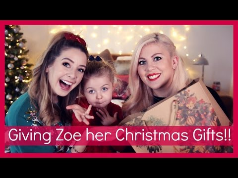 Giving Zoe Her Christmas Presents!!