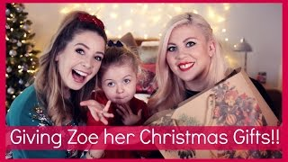 Giving Zoe Her Christmas Presents!!