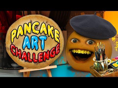 Annoying Orange – Pancake Art Challenge!