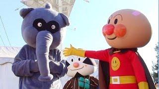 アンパンマンショー【ひとりぼっちのかぜこんこん】 氷の国からやってきたかぜこんこん  ばいきんまんにだまされて。。。   最前列高画質  Anpanman kidsshow thumbnail