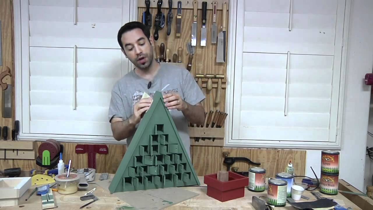 133 how to build an advent holiday calendar part 3 of 3 How to build a wooden advent calendar