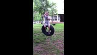 Wyatt On The Tire Swing