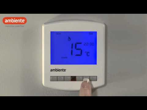 Ambiente PRT - Programming your Thermostat