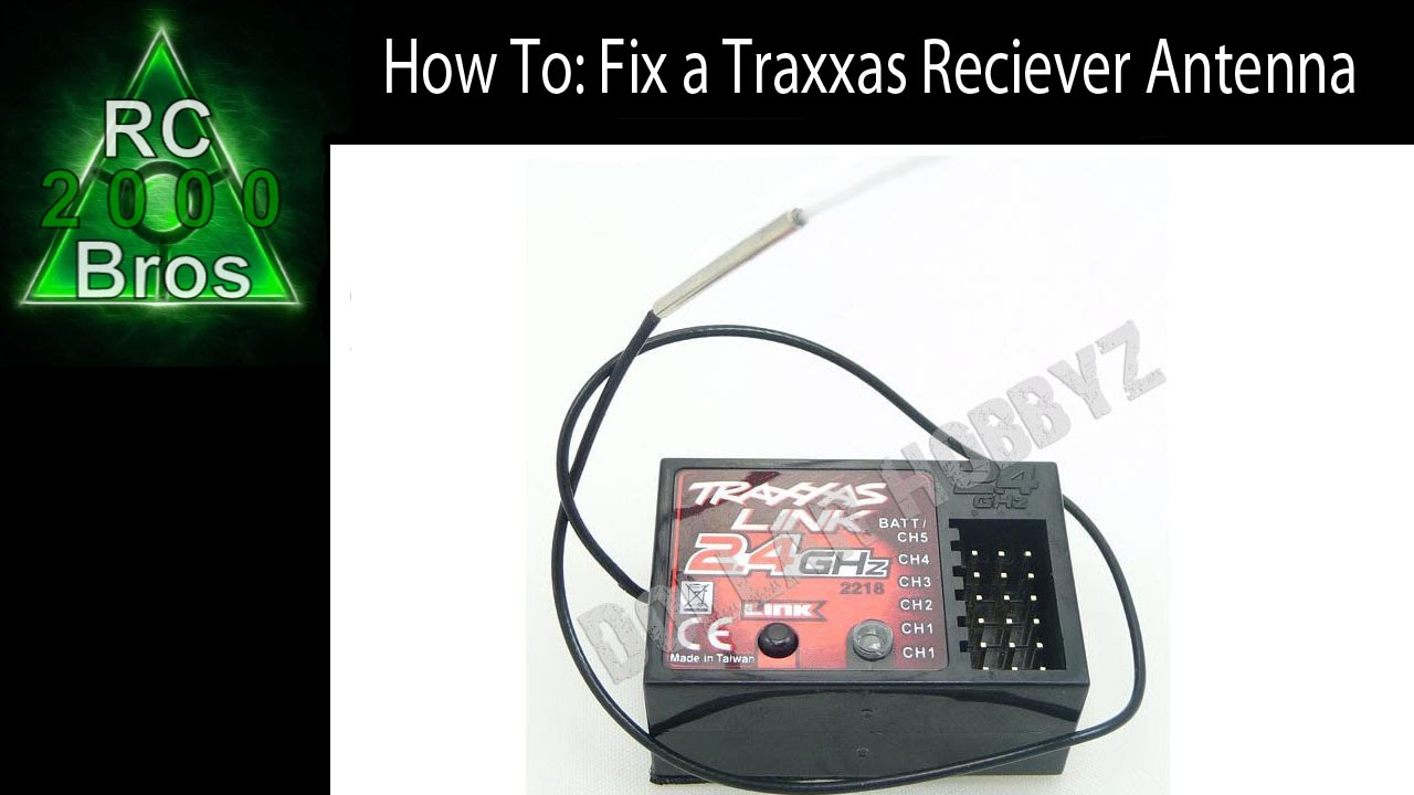 maxresdefault how to fix a traxxas reciever antenna youtube traxxas tq receiver wiring diagram at alyssarenee.co