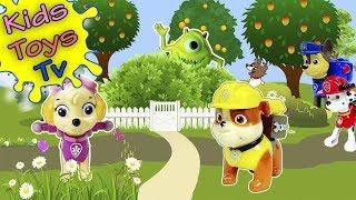 Необычный червяк в саду Щенячий патруль игрушечный мультфильм