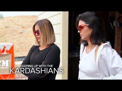 KUWTK | Kendall Jenner & Khloe Kardashian Go to Shooting Range | E!