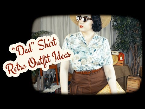 Styling A Thrifted Shirt - The Tropical Dad Shirt Made Vintage
