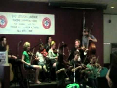 Kenneth MacLeod and his students, St. Patrick's Day
