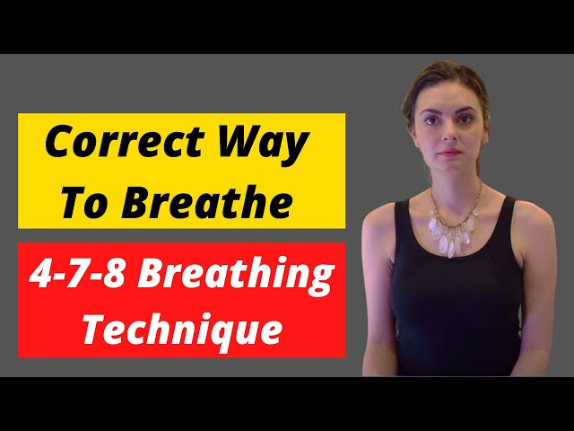 Breathing Meditation for Anxiety - 4-7-8 breathing exercise with mudras and visuals.