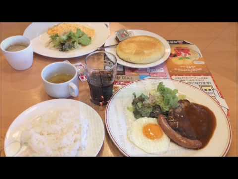 モーニングガストでお得で豪華なモーニング☆スクランブルエッグ・パンケーキ・ハンバーグ☆ファミレスで朝ごはん