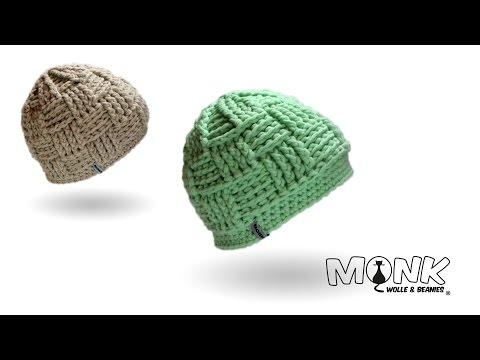 Crochet hat - Basketweave Beanie (english)
