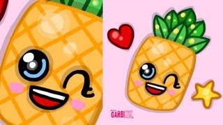 pineapple kawaii cartoon drawing clipart drawings easy draw clip herunterladen