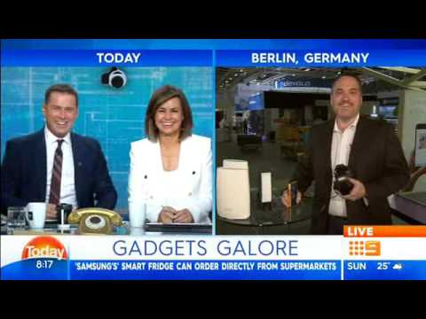 Trevor Long at IFA 2017 broadcasting LIVE on The Today Show Australia
