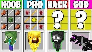 Minecraft Battle: BABY MONSTER CRAFTING! NOOB vs PRO vs HACKER vs GOD in Minecraft Animation