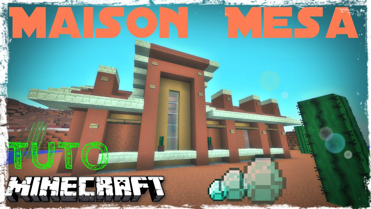 Tuto Minecraft Maison Moderne Far West Youtube