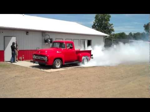 1954 Ford Pick-Up In Burnout Contest At Eagle Valley Speedway (Part 1)