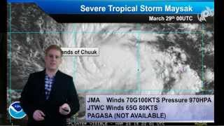 Typhoon Maysak Rolls Over Chuuk, Impact in Philippines Later This Week
