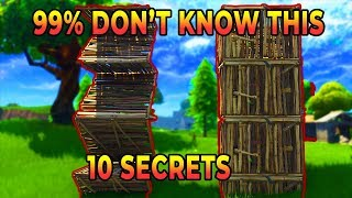 10 *NEW* SECRET Tips & Tricks 99% Of Players Don't Know About (Fortnite)
