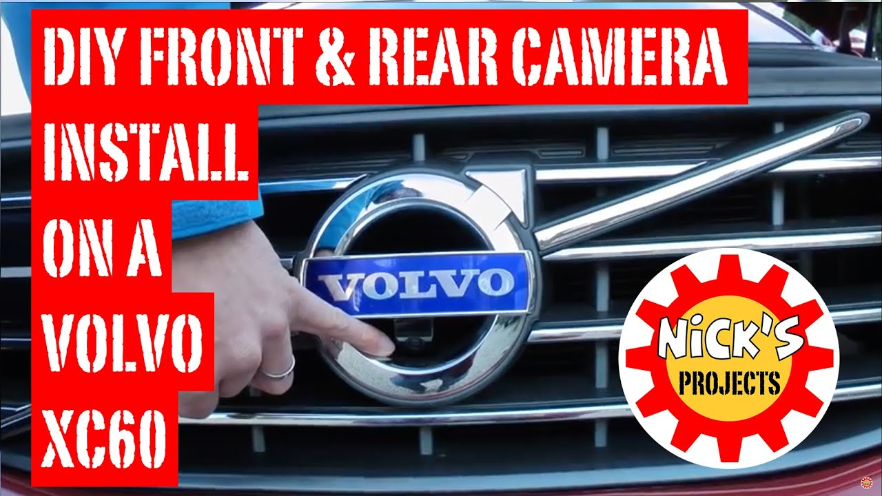 volvo xc60 front and reversing camera install with volvotech kit [ 1280 x 720 Pixel ]