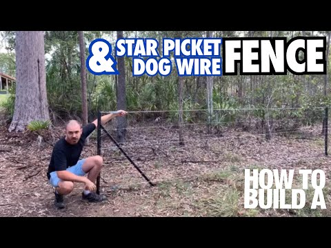 How To Build A Star Picket Dog Fence With Hoocho