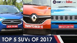 Top 5 SUVs Of 2017 | NDTV carandbike