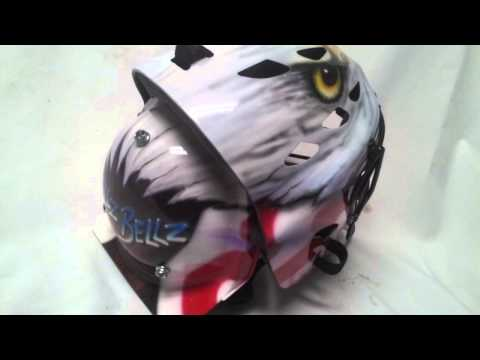 airbrushed catchers helmets eagle