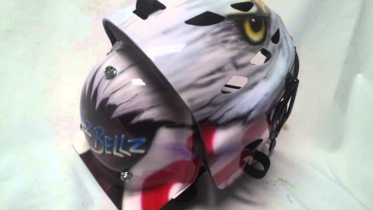 Airbrushed Catchers Helmets Eagle Youtube
