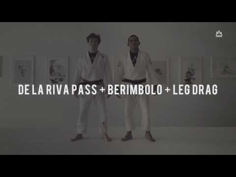 BJJ TECHNIQUE - DE LA RIVA PASS + BERIMBOLO + LEG DRAG