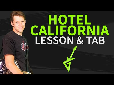 How To Play Hotel California Guitar Lesson & TAB - Eagles