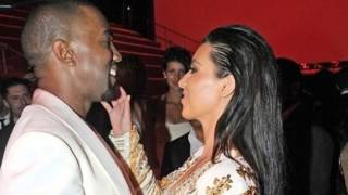 Kim Kardashian Changes Outfits During Dinner with Kanye West In Rome