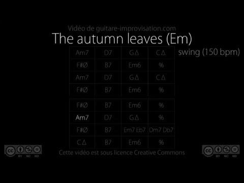 The Autumn leaves / Les feuilles mortes - Em (150bpm) - Backing Track