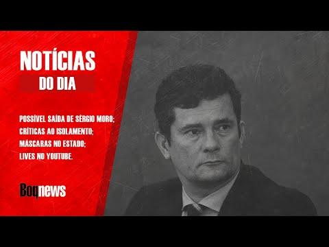 RUMORES DA SAÍDA DO MINISTRO SÉRGIO MORO SAIR DO CARGO FAZ BOLSAS CAÍREM E DÓLAR PASSAR DE R$ 5.50