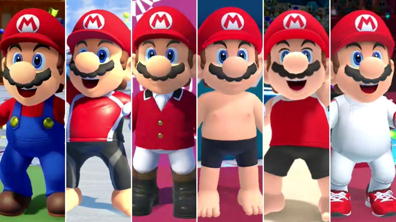 [VIDEO] - Mario & Sonic at the Olympic Games Tokyo 2020 - All Mario Outfits 2