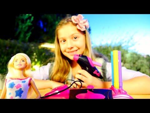 Кукла БАРБИ! Поля- делает дизайн одежды для Барби! Видео для девочек!