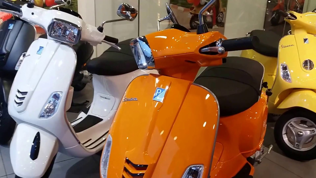 2018 Vespa 150cc Scooter Launched With New Colors Detail