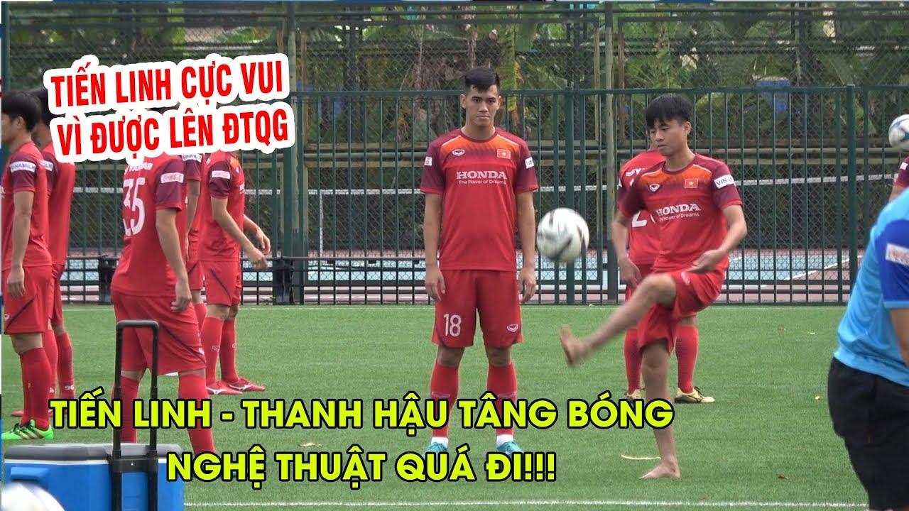 Tiến Linh, Thanh Hậu tâng bóng nghệ thuật, cười tươi khi có danh sách ĐT Việt Nam ⚡️ Malaysia