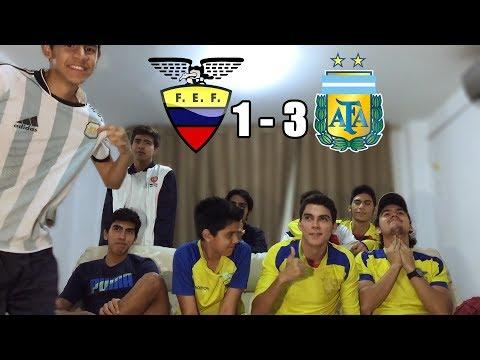 Ecuador Vs Argentina 1-3 |Eliminatorias Rusia 2018| (REACCION DEL PARTIDO)