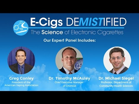 E Cigarette Advocacy Webinar featuring Greg Conley, Dr. Michael Siegel and Dr. Tim McAuley