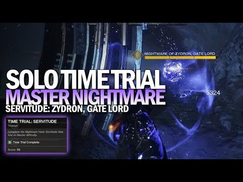 Solo Time Trial: Servitude Triumph (Flawless Master Nightmare Hunt Time Trial) [Destiny 2]