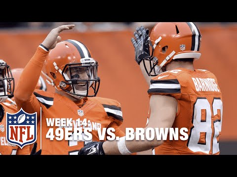 Johnny Manziel Back Pedals & Fires TD Pass to Gary Barnidge! | 49ers vs. Browns | NFL