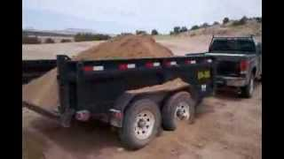 Hauling sand & rocks GMC Sierra 2500HD & Load Trail Dump-GoPro Hero 3