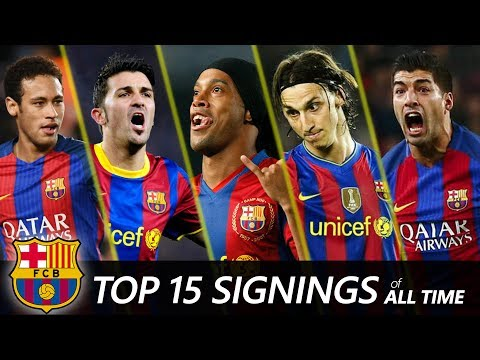 FC Barcelona Top 15 Biggest signings of All time | Neymar, Suarez, Ronaldinho... thumbnail