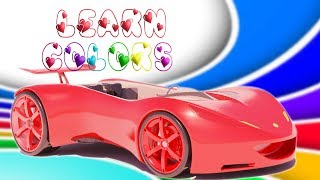 4K   3D Learn Colors with Car for Toddlers   Popular Rhymes and Kids Songs from Peppy Tots