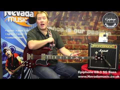 Epiphone EB-3 Bass Guitar Cherry Demo - PMT